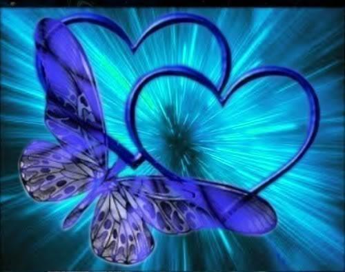 Blue hearts butterfly 8-1