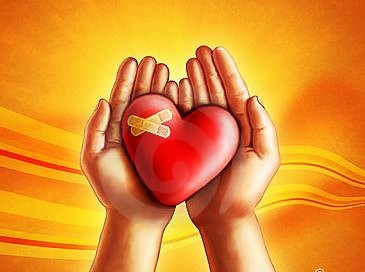 attachment heart in hands 12-13